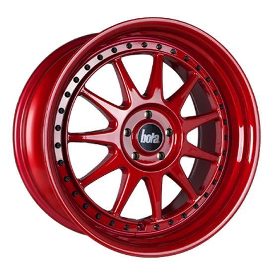 """18"""" Bola B4 Candy Red Alloy Wheels"""