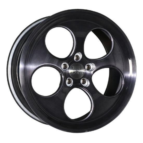 """18"""" Bola B5 Black Brushed Alloy Wheels"""