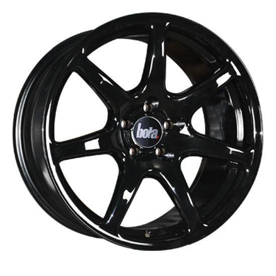 "17"" Bola B7 Gloss Black Alloy Wheels"