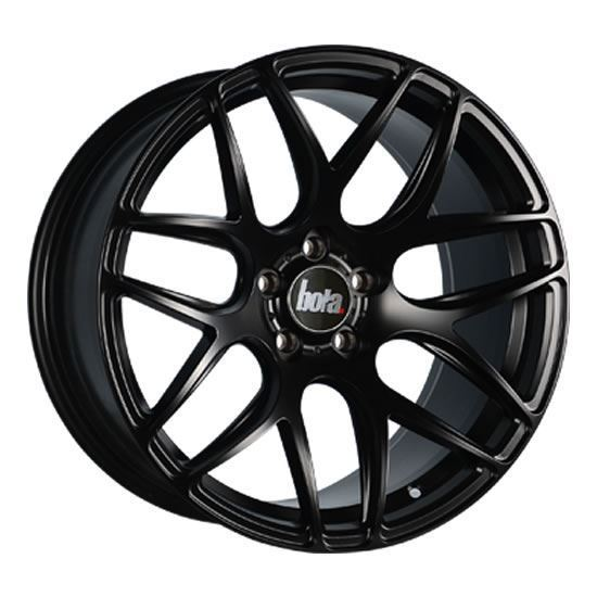 "18"" Bola B8R Matt Black Alloy Wheels"