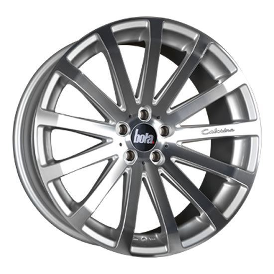 "20"" Bola XTR Silver Polished Face Alloy Wheels"