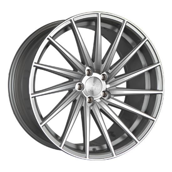 """19"""" Bola ZFR Silver Polished Face Alloy Wheels"""