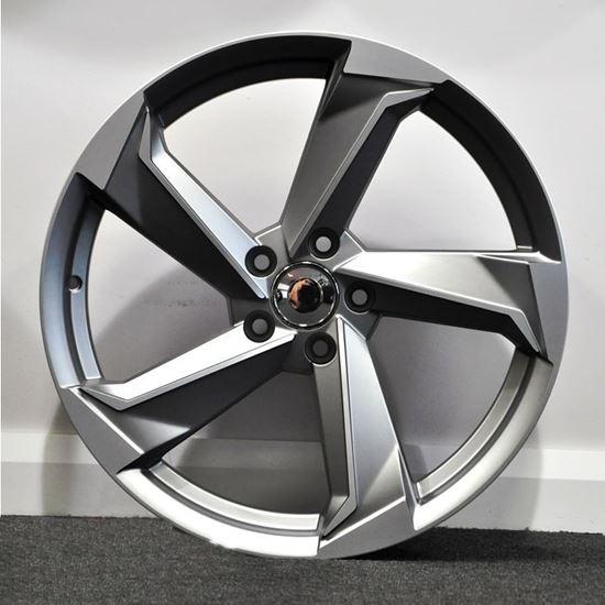 "19"" RAW A9 Style Alloy Wheels - Satin Gunmetal"