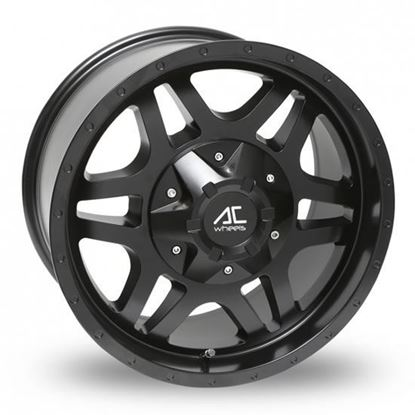 "18"" AC Wheels Savage Matt Black Wheels"