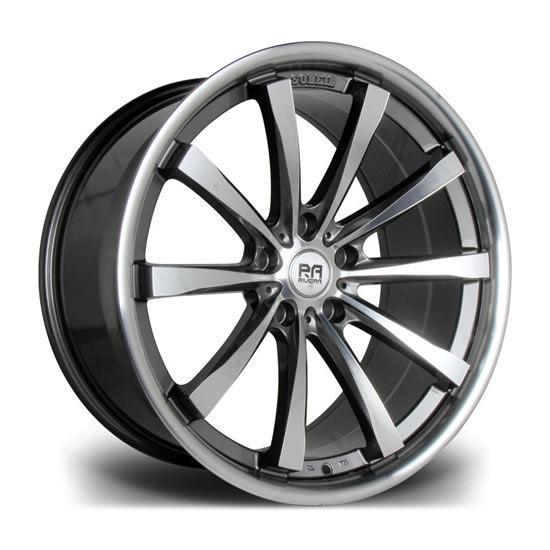 "20"" Riviera Ascot GunMetal Polished Alloy Wheels"