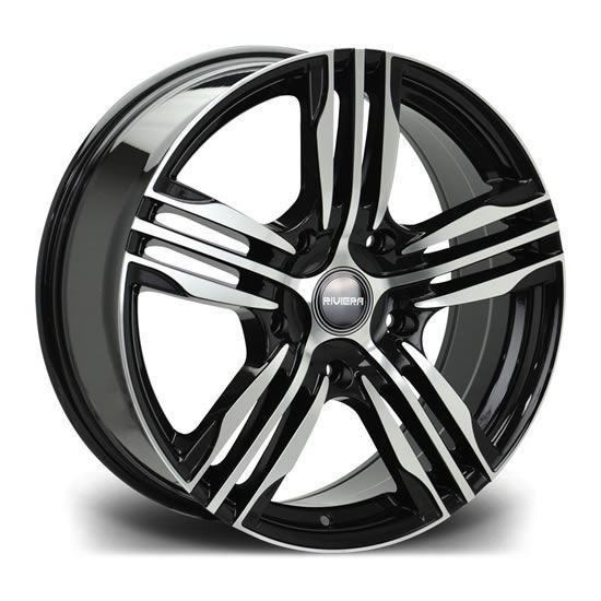 "20"" Riviera Vigor Black Polished Alloy Wheels"