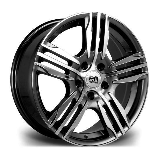 "18"" Riviera Vigor GunMetal Polished Alloy Wheels"