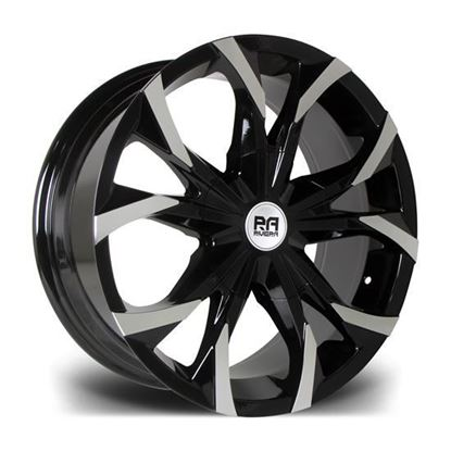 "18"" Riviera Trekker Gloss Black Polished Alloy Wheels"