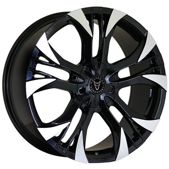 "18"" Wolfrace Assassin GT2 Gloss Black Polished Alloy Wheels"