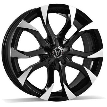"16"" Wolfrace Assassin Gloss Black Polished Alloy Wheels"