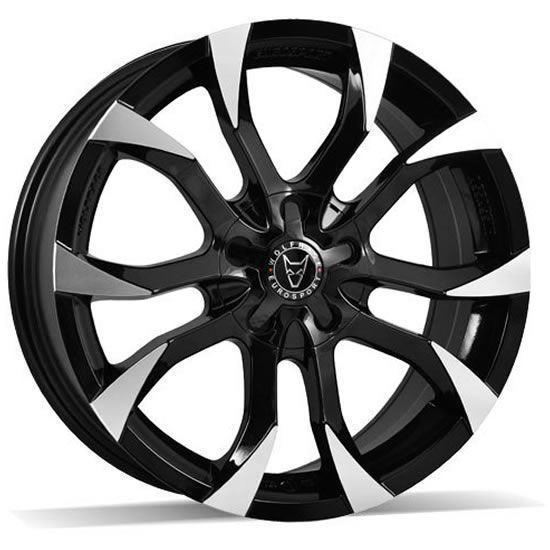 "18"" Wolfrace Assassin Gloss Black Polished Alloy Wheels"