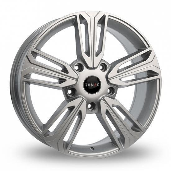 """20"""" Riva Raptor Silver Alloy Wheels"""