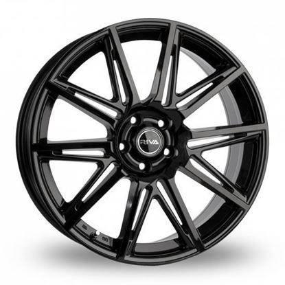 "18"" Riva BVA Gloss Black Alloy Wheels"