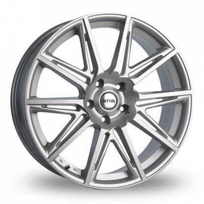 """17"""" Riva BVA Gloss Silver Alloy Wheels"""
