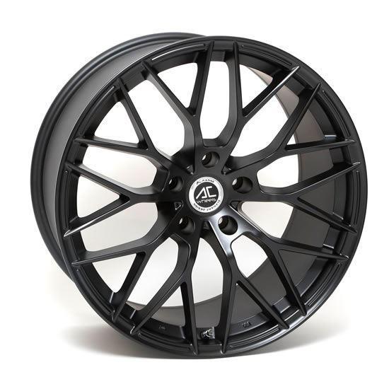 "17"" AC Wheels Saphire Matt Black Alloy Wheels"