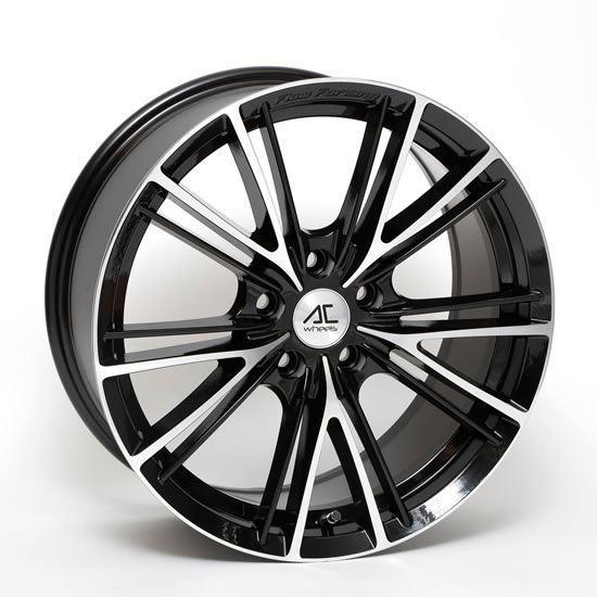 """17"""" AC Wheels FF004 Black Polished Alloy Wheels"""