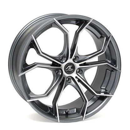 """19"""" AC Wheels Twist Gun Metal Polished Alloy Wheels"""