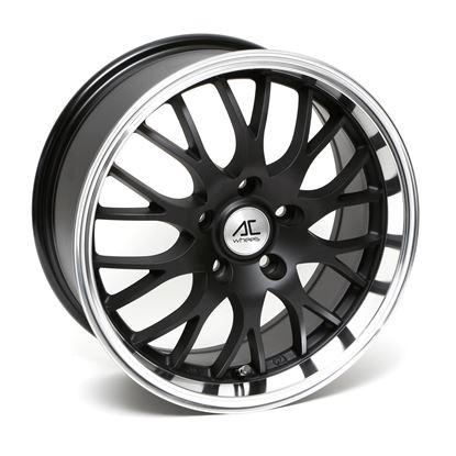 "16"" AC Wheels Hypnotic Matt Black Polished Lip Alloy Wheels"