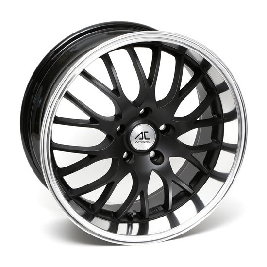 "17"" AC Wheels Hypnotic Matt Black Polished Lip Alloy Wheels"