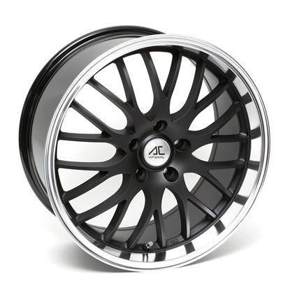 "18"" AC Wheels Hypnotic Matt Black Polished Lip Alloy Wheels"