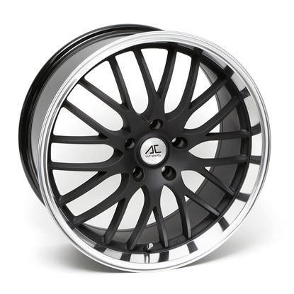"19"" AC Wheels Hypnotic Matt Black Polished Lip Alloy Wheels"