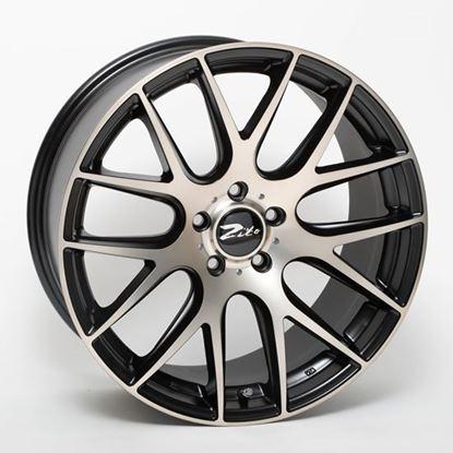 "19"" Zito 935 Matt Black Polished Bronze Alloy Wheels"