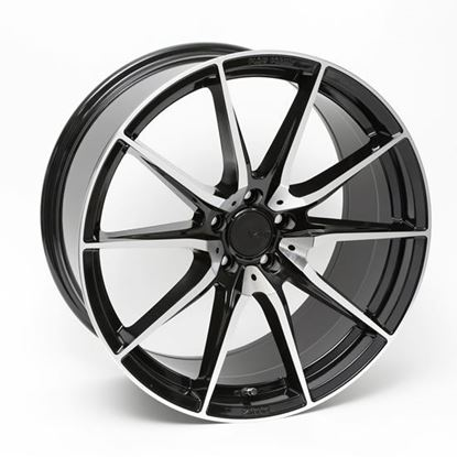 "19"" Zito ZF03 Black Polished Face Alloy Wheels"