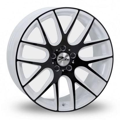 "19"" Zito 935 White Anodised Black Alloy Wheels"