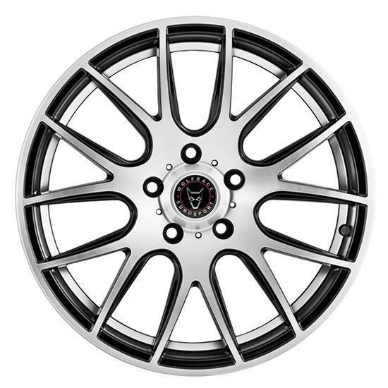 """18"""" Wolfrace Munich Gloss Black Polished Alloy Wheels"""