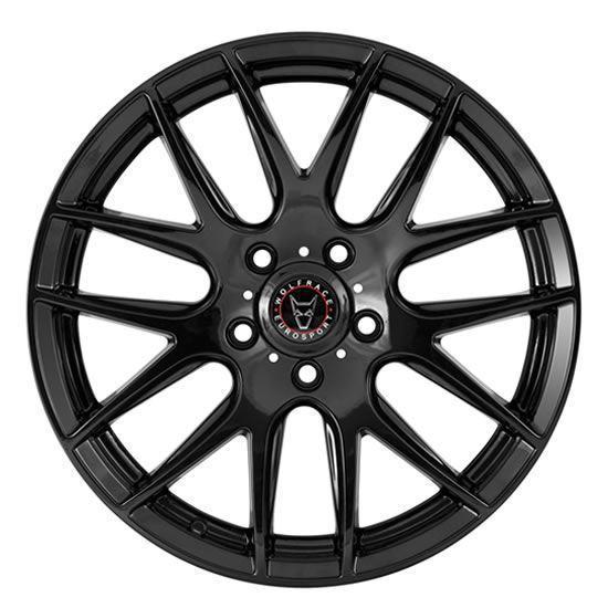 "20"" Wolfrace Munich Gloss Black Alloy Wheels"