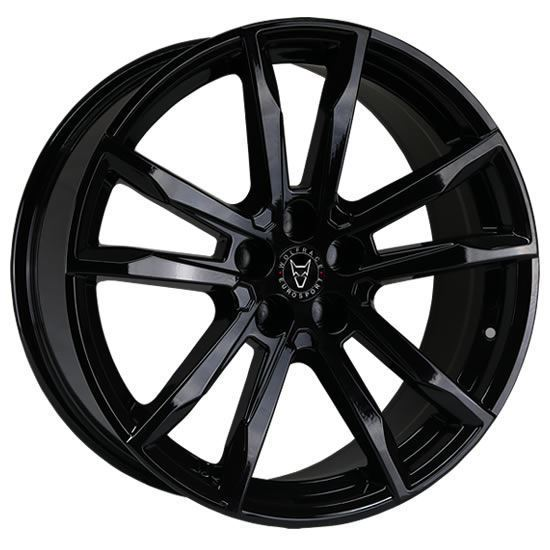 "20"" Wolfrace Dortmund Gloss Black Alloy Wheels"