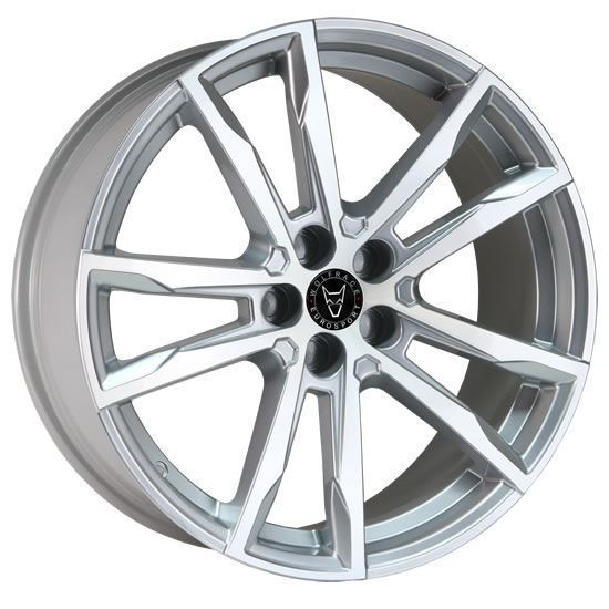 "20"" Wolfrace Dortmund Silver Polished Alloy Wheels"