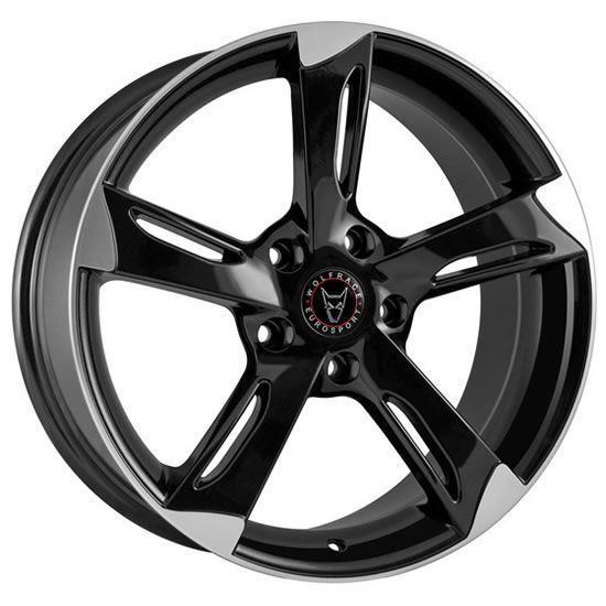 "18"" Wolfrace Genesis Gloss Black Polished Alloy Wheels"