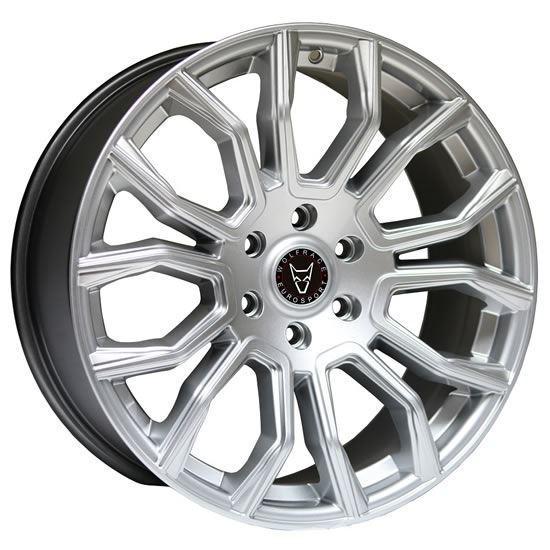 """20"""" Wolfrace Evoke X Silver Polished Face Alloy Wheels"""