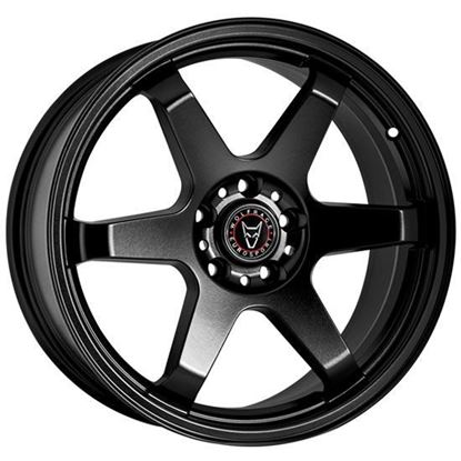 "17"" Wolfrace JDM Satin Black Alloy Wheels"
