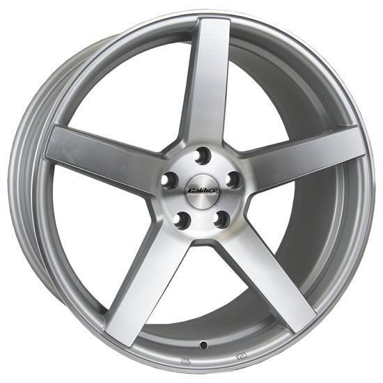 "19"" Calibre CC-Q Silver Polished Face Alloy Wheels"