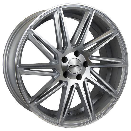 "18"" Calibre CC-A Silver Polished Face Alloy Wheels"