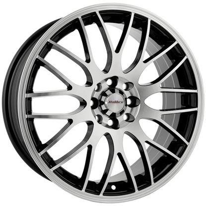 "17"" Calibre Motion Black Polished Face Alloy Wheels"