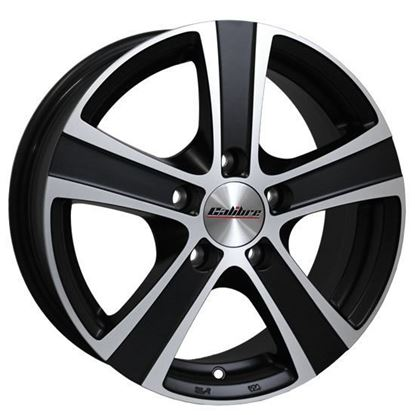 "16"" Calibre Highway Matt Black Polished Face Alloy Wheels"