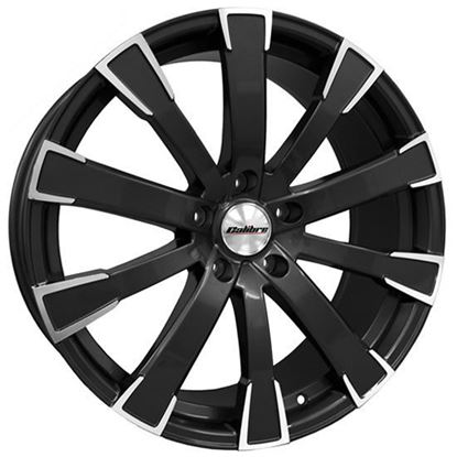 "20"" Calibre Manhattan Black Polished Face Alloy Wheels"