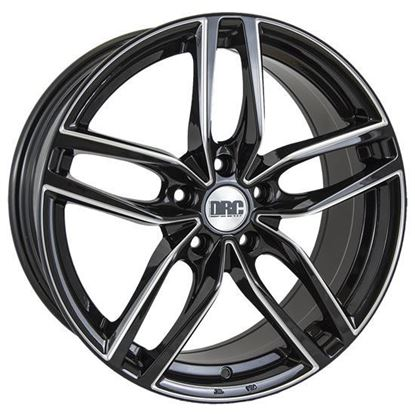 "18"" DRC DRS Black Polished Alloy Wheels"