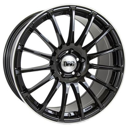 "19"" DRC Rapide Gloss Black Polished Lip Alloy Wheels"