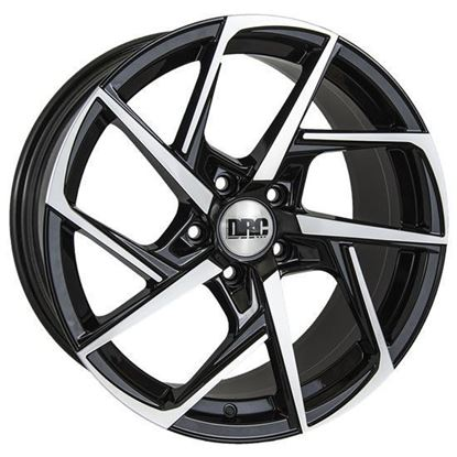 "18"" DRC DVX Black Polished Face Alloy Wheels"