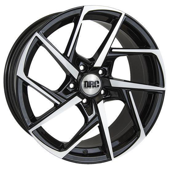 """18"""" DRC DVX Black Polished Face Alloy Wheels"""