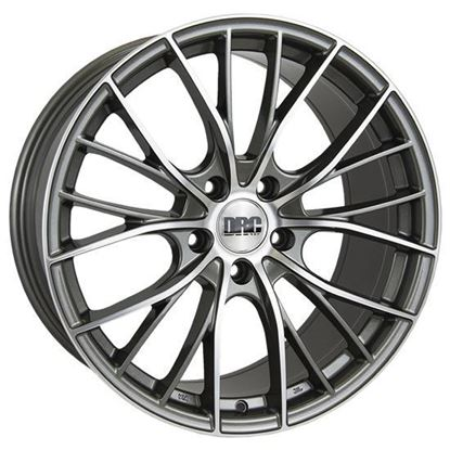 "19"" DRC DMM Gunmetal Polished Alloy Wheels"
