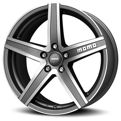 "15"" Momo Hyperstar EVO Matte Anthracite Diamond Cut Alloy Wheels"