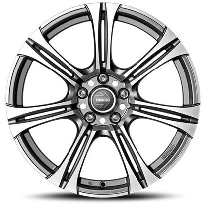 """17"""" Momo Next EVO Matte Anthracite Diamond Cut Alloy Wheels"""