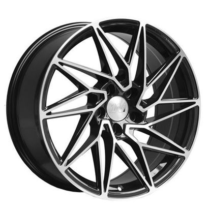 "18"" 1AV ZX10 Black Polished Face Alloy Wheels"