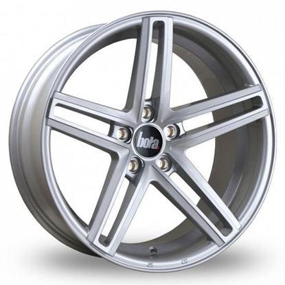 "19"" Bola B3 Gloss Silver Alloy Wheels"