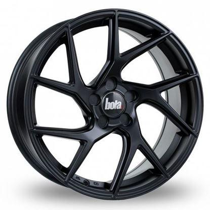 """19"""" Bola FLA Matt Black Alloy Wheels"""